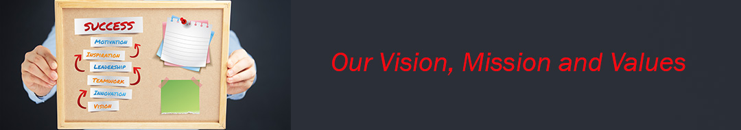 , Our Vision, Mission and Values